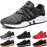 BAOLESEM Sportschuhe Herren Atmungsaktiv Gym Laufschuhe Leichtgewicht Turnschuhe Freizeit Outdoor Sneaker,Grau,EU 43