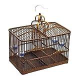 Vogelkäfig, Bambus handgewebt Vogelvoliere,Vogelhaus Vogel,Wellensittichkäfig ,Vogelbauer Voliere für Kanarien,Tauben, Fink