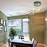 Wohnzimmerlampen LED Deckenleuchte Dimmbar Schlafzimmer Deko Deckenlampe Modern Chic 10-Flammige Pendelleuchte Mit Fernbedienung Lampen Für Büro Flur und Balkon Esszimmerlampen L140cm