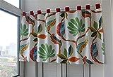ACMHNC Kinderzimmer Scheibengardine, Moderne Halbtransparente Küche Kurzgardinen Modern Landhausstil Kurzstores Gardinen Kurzer Vorhang,W x H 200x50cm