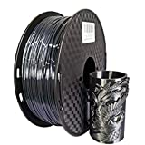 PLA 3D-Drucker Filament Silk Schwarz 1.75mm PLA Seidenglanz 500 g / 1 kg / 250 g PLA Filament glänzende Seide Gefühl, wie 3D-Pen Druckmaterialien (Color : Black 250g)
