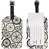 Fahrradfelgen Gepäckanhänger Travel ID Label Leder für Gepäck Koffer 2 Stück