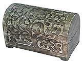 Schatulle mit Lebensbaum aus Holz, 3 Größen erhältlich, Deko-Schatulle, Kiste, Kästchen (ca. 20 cm)