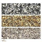 BEKATEQ Naturstein Marmorkies BK-590 Steinteppich Dekosteine - Bronze-Grau - 2-4mm - 20kg