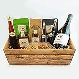 Präsentkorb Isabel`s Genusskorb aus aller Welt, gefüllt mit unterschiedlichen Delikatessen für Gourmets & Feinschmecker oder ideal zum verschenken, geschenkfertig verpackt