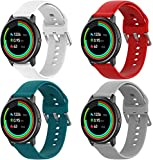 Classicase kompatibel mit Xiaomi Haylou Solar LS05 / Haylou RT LS05S Armband, Silikon Uhrenarmband Sportarmband (4-Pack G)