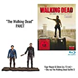 The Walking Dead - Die komplette dritte Staffel (Uncut - 5 BRs) + Actionfiguren Negan & Glenn (ca. 13cm) [Blu-ray]