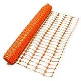 True Products b1003C Standard-Schutznetz aus Kunststoff, Rolle, Orange, 4kg 1m x 50