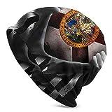 LAOLUCKY Beanie Skull Cap Soft Slouchy Hat Hip Hop Schlafmütze für Damen & Herren Gr. One size, Florida Flagge zum Ausziehen schwarz