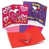 Baker Ross AX693 Herzkarten Bastelset für Kinder - 10er Pack, Karten Basteln zum Muttertag, Valentinstag, Weihnachten oder zu anderen Anlässen