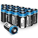 AHJ CR123A 3V Lithium Batterie - 16er Pack CR123 Batterien geeignet f¨¹r Alarmanlagen, Taschenlampen und mehr - Einwegb