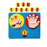 Lernspielzeug für Kinder, Mathematik, Fingerzählung, 1–10, Lernen, Kindergarten, Mathematik, Spielzeug, Geburtstagsgeschenk fü