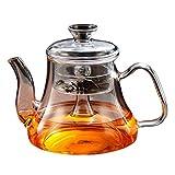 ZHAOSHUNLI Teekanne Glas dämpfende Teekanne mit hoher Temperatur gedämpfte Tee gekocht Teekanne kochendes Wasser gesund Topf Filter Teekanne Capacity : A Single Pot (Send 4 Cups)