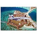 USA Amerika Fort Jefferson Key West Florida Puzzle 1000 Teile Holzpuzzle Erwachsene Spielgrafik Reise Souvenir Holz
