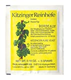 WEINHEFE BORDEAUX Arauner Kitzinger – Trocken Reinhefe für 50L | Naturhefe | Obstwein hefe | Hefenährsalz | Alkoholhefe | Methefe | Apfelweinhefe
