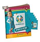 EURO 2020 Sticker Preview - Panini Sammelsticker - 1 Album + 5 Tüten + stickermarkt24de Gum