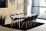 lifestyle4living Ausziehbarer Esstisch in weiß lackiert mit Tischbeinen aus massivem Pincon und teilweise in Chrom-Optik abgesetzt, Maße: B/H/T ca. 100/74/170-270