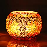 Kerzenständer Windlicht Glas Solar Laterne Kerzenhalter Vintage Teelichthalter Handgemacht Teelichtgläser Geschenken Kerzenständer Glas Deko für Teelichter, Kerzen, Geburtstag, Party, Wohnzimmer