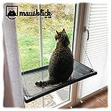 riijk Fenster Katzenhängematte für Katzen bis 23 kg | extra Stabiler Fensterliegeplatz für Katzen | Katzen Fensterliege | Katzenliege FensterPlatz | für kleine F