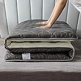 LIMIAO Tragbare Schlafsaal-Faltmatratze, Dicke 5cm japanische Futon-Matratze Futon Tatami Schlafmatratze Boden Bett Pad(180x200cm),A,90x200cm (35 * 79 inches)