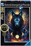 Ravensburger Puzzle 13970 - Leuchtender Wolf - 500 Teile Puzzle für Erwachsene und Kinder ab 10 Jahren, Leuchtpuzzle mit Wolf-Motiv, Leuchtet im Dunkeln