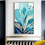 yunxiao leinwandbilder Wandbilder für Wohnzimmer PictureDecorative Nordic Blue Plants Leinwand Malerei Ebay Poster und Drucke Bilder Rahmen Bilder Poster Prints Wandkunst Wanddekoration Landschaften