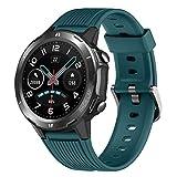 YAMAY Smartwatch Fitnessuhr Herren Damen Wasserdicht IP68 Smart Watch Touch Rund Herzfrequenzmesser Schrittzähler Fitness Tracker mit Stoppuhr Nachrichten für Android iOS