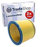2x Ersatz Rund-Filter Lamellenfilter für Aqua Vac Super 22 30 40 615 S1 615 S2 760, Synchro 22 30 30 A 30/A 30A 40 A/AC 40 AC 40/A 40A Staubsauger