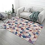 Teppich kinderzimmer rund Rot Salon Teppich Rot Unscharfer Dreieck Vintage Design Muster weicher Teppich dauerhaft Teppich Jungen jugendzimmer 80x160cm Teppich Katze 2ft 7.5''X5ft 3''