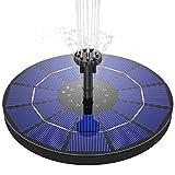 AISITIN Solar Springbrunnen 3.5W Solar Teichpumpe mit 180mm Durchmesser Solar Panel Eingebaute 1500mAh Batterie Wasserpumpe Solar Schwimmender Fontäne Pumpe mit 6 Fontänenstile für Garten, Vogel-Bad