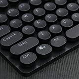KEEZSHOP Keycaps Gaming, 104 Keys ABS Tastenkappen Runde Steampunk Crystal Light Transmission Mechanische Tastatur Tastaturkappe Sekundär Form Schriftart ABS Keycap