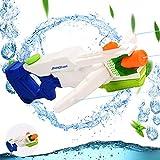 Colmanda Wasserpistole Spielzeug Set, 1000 MLWasserpistole Schwimmbade Spielzeug mit 8-10 Meter Reichweite, Wasserpistole mit 3 Sprinkler, Water Blaster für Kinder und Erwachsene