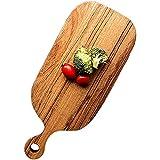 Holzschneidebrett für die Küche, Käse-Servierbrett mit Griff, Brot-Serviertablett & Planke, Pizzateller, Wurstbretter für Fleisch (Shape : Rectangle, Size : Small)