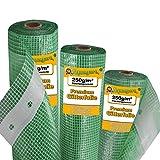 Aquagart Gewächshausfolie Gitterfolie Frühbeetfolie Gartenfolie 250g UV Stabil grün verschiedene Breiten und Längen (4m, grün/transparent 2,0m breit)