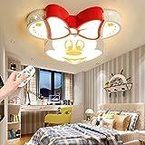 Deckenleuchte LED Mickey Acryl Lampeschirm Deckenlampe Junge Mädchen Baby Kinder Deckenlampe 40W Dimmen Fernbedienung Innenbeleuchtung Wohnzimmer Kinderzimmer Kindergarten Restaurant Lampe W
