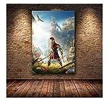 RZHSS Die Plakatdekoration Gemälde Von Assassins Creed Odyssey Origins Auf Hd Leinwand Leinwand Malerei Kunst Poster Und Drucke-50X75Cm No Frame