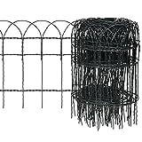 vidaXL Beetzaun Beeteinfassung Beetumrandung Gartenzaun Rasenkante Eisen 10×0,4m