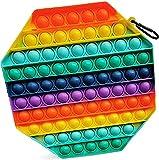 Nayble Jumbo Pop It Fidget-Spielzeug für Autismus, Stress und Angst, achteckig, groß