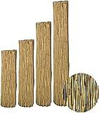 interGo Sichtschutzmatte, Schilfrohrmatte Premium 90x550cm (HxB), Sichtschutz aus dichtem Schilf, Schlfmatten für Balkon, offene Terrasse und Gartenzäunen