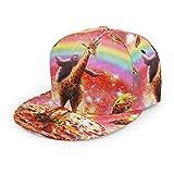Baseballkappe, Weltraum, Faultier, Reiten, Giraffe, Einhorn, Pizza, Taco, Unisex, 3D-Druck, Snapback-Kappen, verstellbare Mütze, Trucker-Hüte, schwarz