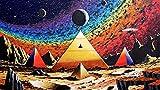 UYTRE Landschaft der ägyptischen Pyramiden Puzzle 1000 Teile ,Puzzle für Erwachsene Puzzle Erwachsene anspruchsvoll Geschicklichkeitsspiel für die ganze Familie Geschenk Size:H-50 cm x M/B-75 cm