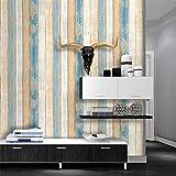 BZChey Farbe Holzmaserung Streifen Tapete Modern für Schlafzimmer Wohnzimmer oder Küche 200 * 150