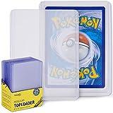 blaash® Regular Toploader   25 Premium Schutzhüllen   3'x4'   Transparente Kartenhüllen für alle gängigen Spiel- und Sammelkarten wie Pokémon, YuGiOh, MTG, Match Attax   Extra Klar Kartenschutz
