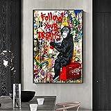 Folgen Sie Ihren Träumen Street Graffiti Kunst Gemälde Abstrakte Pop Wandkunstdrucke Kinderzimmer Wohnzimmer Dekor Kunstwerk Poster 40x60cm Rahmenlos