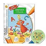 tiptoi Ravensburger Buch | Deutsch 1. Klasse - Mein Lern-Spiel-Abenteuer + ABC Buchstaben Sticker von Collectix