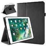 doupi Deluxe Schutzhülle für iPad Pro 9.7 Zoll, Smart Case Sleep/Wake Funktion 360 Grad drehbar Schutz Hülle Ständer Cover Tasche, schwarz