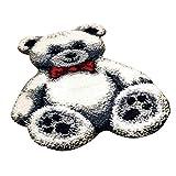 LOVIVER Knüpfteppich Set Knüpfset Knüpfbild Erwachsene, Bär Teppich zum Selberknüpfen - Weiß