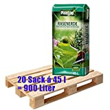 Rasenerde Plantop 20 Sack je 45 Liter = 900 Liter Qualitäts-Rasensubstrat aus Bay