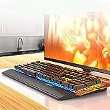 LCSD Gaming Headset. Mechanische Gaming-Tastatur Und Maus Kombiniert Mit PC Gaming Headset, Multicolor LED Backlit USB Kabel Mit Blauen Schalter, Handauflage (Color : 3 In1 Keyboard Set)