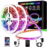 L8star LED Strips 20M, RGB Smart LED Streifen Farbwechsel LED Band, Musik Sync LED Lichterkette mit Fernbedienung und App-steuerung, für Leiste, Zuhause, Schlafzimmer, Küche, Party